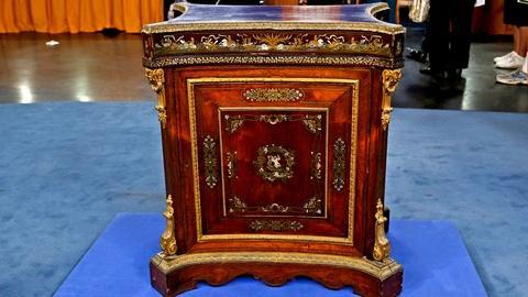 Antiques Roadshow -- S18 Ep15: Appraisal: Napoleon III Rosewood Cabinet, ca. 1860