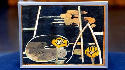 """Antiques Roadshow -- S18 Ep15: Appraisal: Françoise Gilot """"Yellow Flower"""" Paintin"""