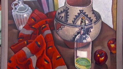 "Antiques Roadshow -- S18 Ep15: Appraisal: 1926 Raymon Jonson ""Pot & Blanket"" Oil"
