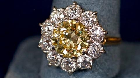 Antiques Roadshow -- S18 Ep16: Appraisal: Yellow Diamond Ring, ca. 1905