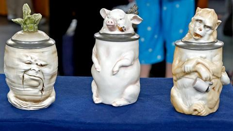 Antiques Roadshow -- S18 Ep18: Appraisal: German Character Steins, ca. 1900