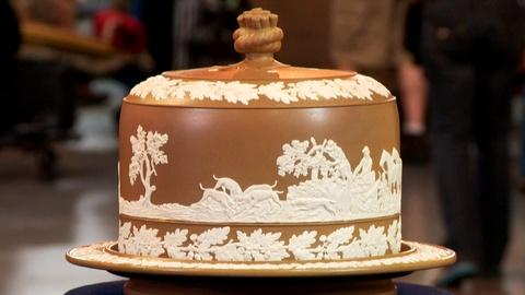 Antiques Roadshow -- S18: Web Appraisal: Drabware Cheese Dish & Cover, ca. 1880