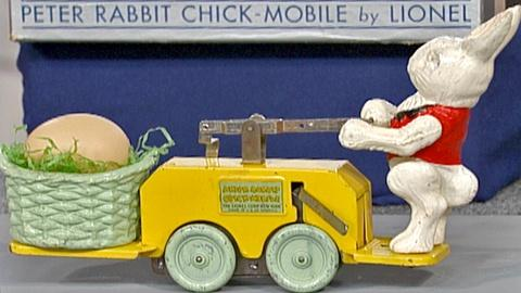 Antiques Roadshow -- S18 Ep25: Appraisal: 1936 Peter Rabbit Handcar with Box