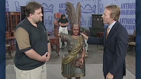 Antiques Roadshow -- S18 Ep25: Appraisal: Late 20th-Century Cigar Store Indian
