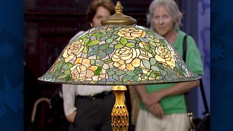 "Antiques Roadshow -- S18 Ep26: Appraisal: Louis Comfort Tiffany Lamp with ""Rose H"