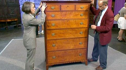 Antiques Roadshow -- S18 Ep26: Appraisal: Pennsylvania Tall Chest, ca. 1795