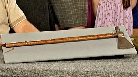 Antiques Roadshow -- S18 Ep27: Appraisal: Plains Indian Tomahawk, ca. 1870