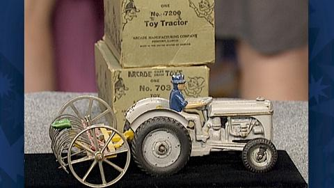 Antiques Roadshow -- S18 Ep27: Appraisal: 1939 Arcade Tractor & Rake