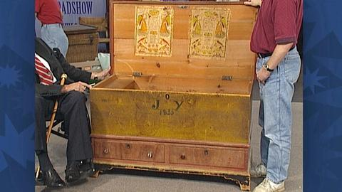 Antiques Roadshow -- S18 Ep27: Appraisal: Pennsylvania Dower Chest, ca. 1835