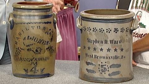 Antiques Roadshow -- S18 Ep27: Appraisal: Pennsylvania Stoneware Crocks