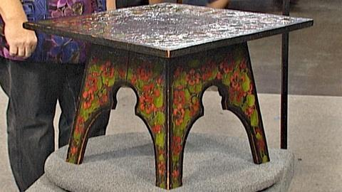 Antiques Roadshow -- S18 Ep27: Appraisal: Pyrography Plant Stand & Table