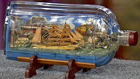 Antiques Roadshow -- S18 Ep28: World War II German POW Ship in a Bottle made in C