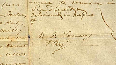 Antiques Roadshow -- S18 Ep29: Appraisal: 1813 Roger B. Taney & Francis Scott Key