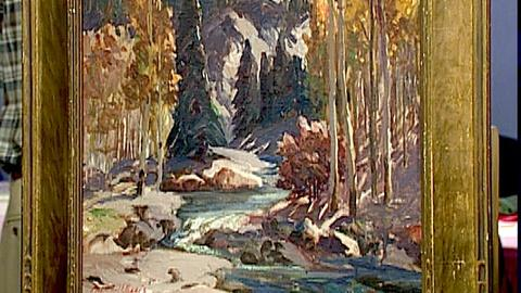 "Antiques Roadshow -- S18 Ep30: Appraisal: Fremont Ellis Painting, ""Red River Cany"