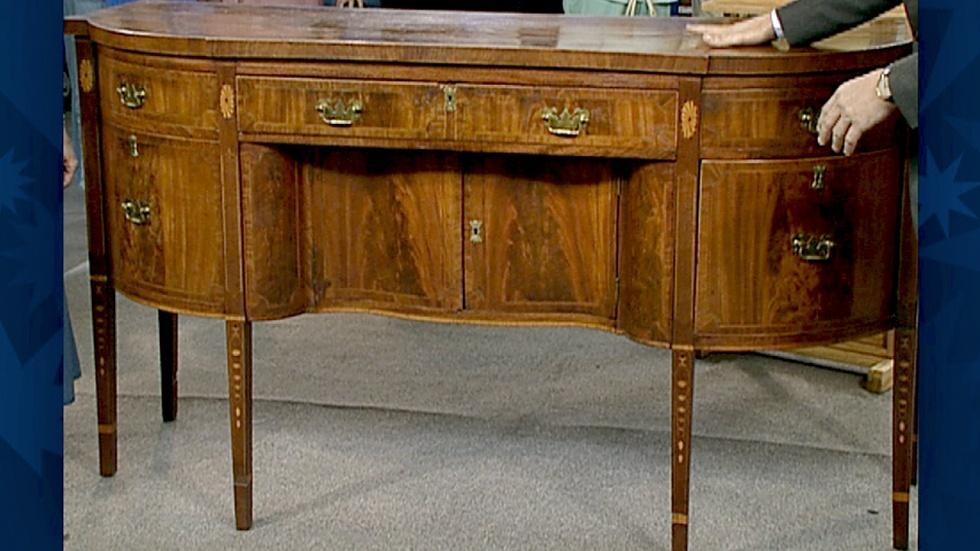 S18 Ep30: Appraisal: Federal Inlaid Mahogany Sideboard image