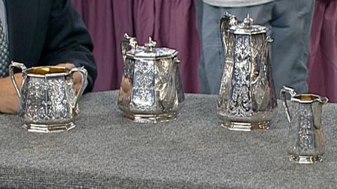 Antiques Roadshow -- S18 Ep30: Appraisal: 1844 London Sterling Tea Set