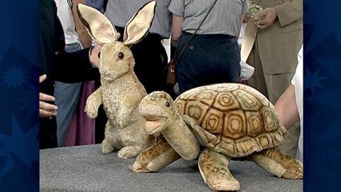 Antiques Roadshow -- S18 Ep30: Appraisal: Steiff Rabbit & Turtle Footstool