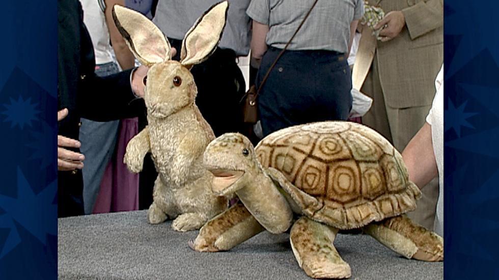 S18 Ep30: Appraisal: Steiff Rabbit & Turtle Footstool image