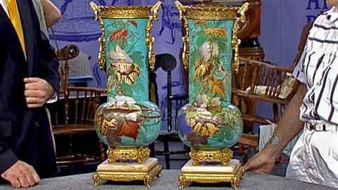Antiques Roadshow -- S18 Ep31: Appraisal: French Aesthetic Period Vases, ca. 1880