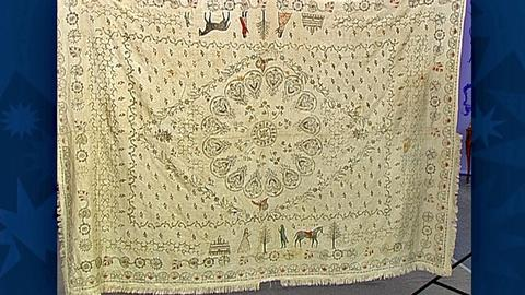 Antiques Roadshow -- S18 Ep31: Appraisal: 1796 American Homespun Coverlet