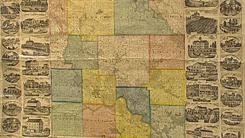 Antiques Roadshow Appraisal 1869 Linn County Iowa Map Twin