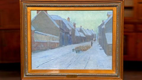 "Antiques Roadshow -- S18 Ep19: Appraisal: 1892 Edward W. Redfield ""A Winter Eveni"