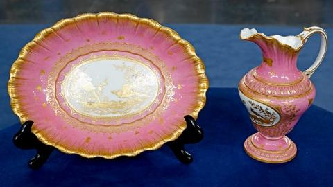 Antiques Roadshow -- S18 Ep19: Appraisal: French Gilded Ewer & Basin Set, ca. 180