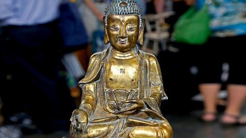 Antiques Roadshow -- S18 Ep19: Appraisal: Chinese Gilt Bronze Amida Buddah, ca. 1