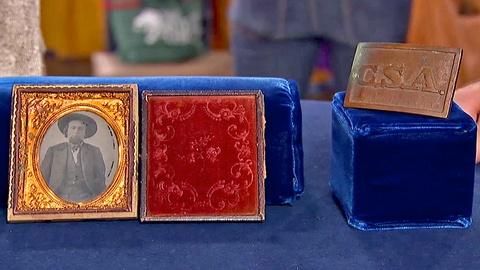 Antiques Roadshow -- S18 Ep20: Appraisal: Civil War Confederate Buckle & Photo