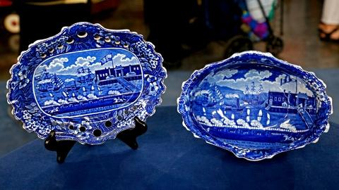 Antiques Roadshow -- S18 Ep20: Appraisal: Clews Fruit Bowl & Stand, ca. 1825