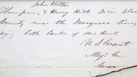 Antiques Roadshow -- S16 Ep18: Appraisal: 1863 Ulysses S. Grant Letter