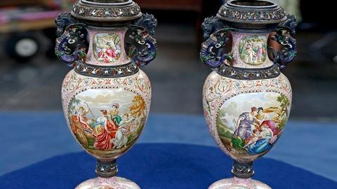 Antiques Roadshow -- S18 Ep20: Appraisal: Viennese Enamel Vases, ca. 1880
