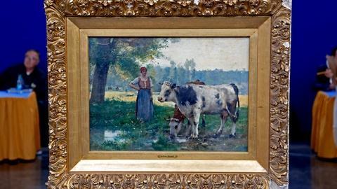 Antiques Roadshow -- Appraisal: Julian Dupré Oil on Panel, ca. 1885