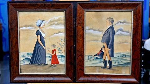 Antiques Roadshow -- Appraisal: Jacob Maentel Watercolors, ca. 1835