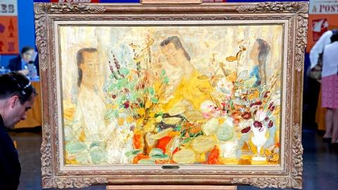 Antiques Roadshow -- Appraisal: Le Pho Oil on Silk, ca. 1950