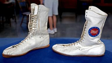 Appraisal: Signed Muhammad Ali Training Shoes