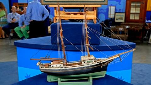 Antiques Roadshow -- S18 Ep22: Appraisal: A.G. Jewett Watercolor & Ship Model