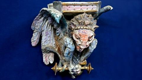 Antiques Roadshow -- S18 Ep22: Appraisal: Gargoyle Pottery Wall Bracket, ca. 1880