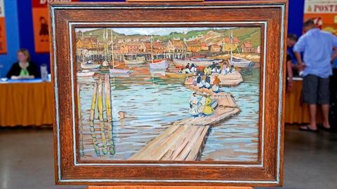 """Antiques Roadshow -- Appraisal: Jane Peterson """"The Floats"""" Gouache, ca. 1915"""