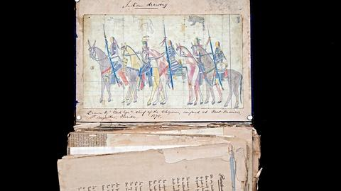 Antiques Roadshow -- Appraisal: Plains Indian Ledger Drawing, ca. 1878