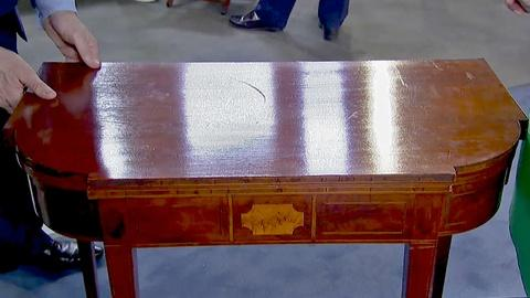 Antiques Roadshow -- S18 Ep24: Appraisal: Federal Inlaid Mahogany Games Table, ca