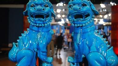 Web Appraisal: Turquoise Glazed Buddhistic Lions