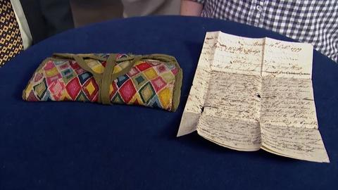 Antiques Roadshow -- Appraisal: Men's Needlework Wallet, ca. 1775