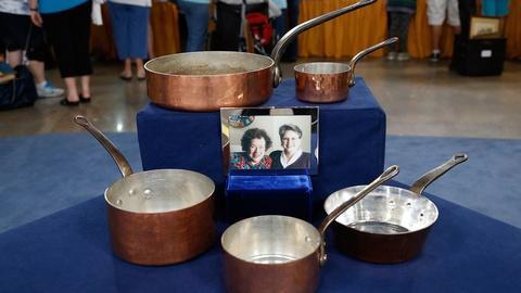 Antiques Roadshow -- S18 Ep33: Appraisal: Julia Child's Copper Pans, ca. 1960