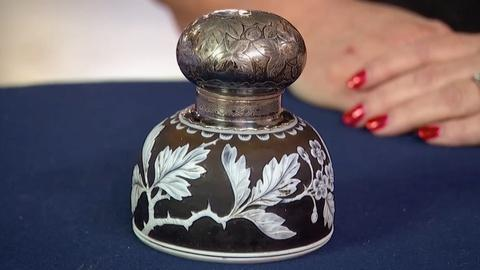 Antiques Roadshow -- S18 Ep33: Appraisal: Webb Cameo Glass & Gorham Silver Inkwel