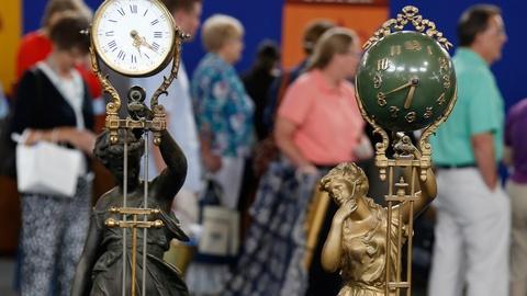 Antiques Roadshow -- S18 Ep33: Appraisal: Ansonia Swinger Clocks