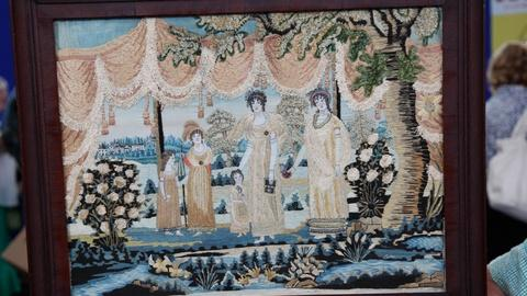 Appraisal: Maria Koogle Schoolgirl Needlework, ca. 1817