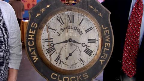Antiques Roadshow -- S19 Ep2: Appraisal: Watch Trade Sign, ca. 1890