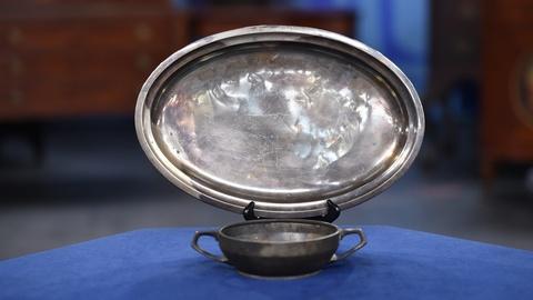 Antiques Roadshow -- S19 Ep2: Appraisal: Hindenburg Bowl & Tray, ca. 1937