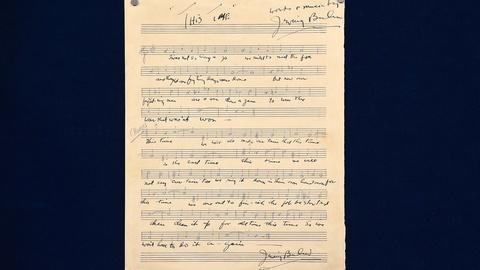 Antiques Roadshow -- S19 Ep3: Appraisal: 1943 Irving Berlin Signed Manuscript